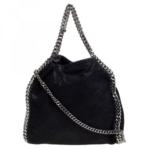 Stella McCartney Black Faux Leather Mini Falabella Tote