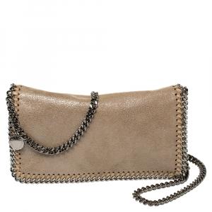 Stella McCartney Beige Faux Leather Falabella Crossbody Bag