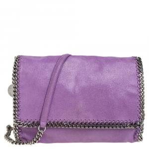 Stella McCartney Purple Faux Suede Falabella Shoulder Bag