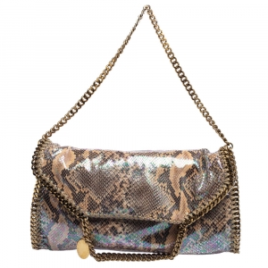 Stella McCartney Multicolor Faux Python Embossed Leather Falabella Tote