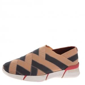 Stella McCartney Beige/Grey Elastic Slip On Sneakers Size 39 - used
