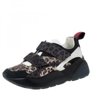 Stella McCartney Multicolor Leopard Print Fabric Eclypse Lace Up Sneakers Size 39 - used