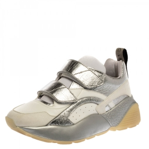 Stella McCartney White Faux Leather Eclypse Sneakers Size 40 - used