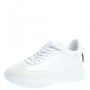 Stella McCartney White Faux Leather Loop Sneakers Size 39