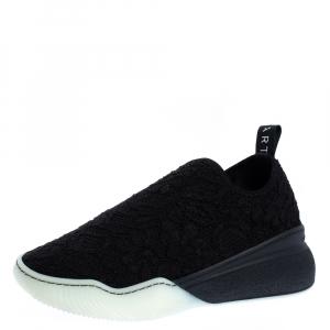 Stella McCartney Black Lace Loop Slip On Sneakers Size 39 - used