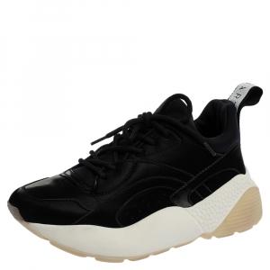 Stella McCartney Black Polyamide Fabric Eclypse Low Top  Sneakers Size 37