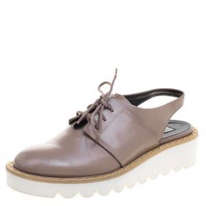 Stella McCartney Beige Faux Leather Slingback Oxfords Size 37 - used