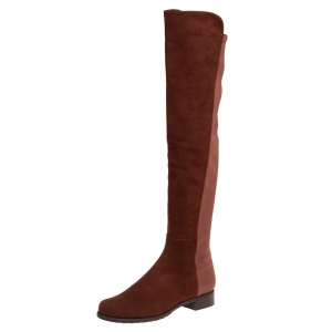 Stuart Weitzman Brown Suede Knee Length Boots Size 40 - used