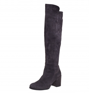 Stuart Weitzman Grey Suede 50:50 Knee High Length Boots Size 37 - used