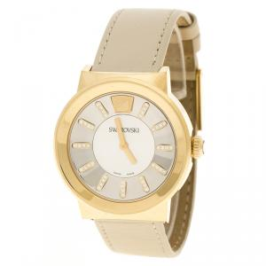 Swarovski Gold-Plated Stainless Steel Crystal Piazza Mesh Women's Wristwatch 36 mm