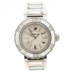 Swarovski White Stainless Steel Octea Sport Women's Wristwatch 39 mm