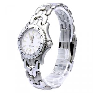 Tag Heuer White Stainless Steel Professional Women's Wristwatch 28MM