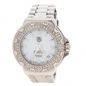 Tag Heuer White Stainless Steel Formula 1 WAC1215.FC6219 Women's Wristwatch 35.5MM