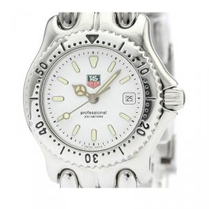 Tag Heuer White Stainless Steel Sel Professional 200M WG1310 Women's Wristwatch 28 MM