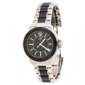 Tag Heuer Black Ceramic Stainless Steel Formula 1 WAH1210.BA0859 Women's Wristwatch 37 mm