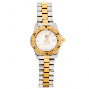 Tag Heuer Silver Two-tone Stainless Steel Professional 2000 Series WK1320-0 Women's Wristwatch 28 mm