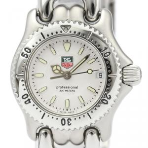 Tag Heuer White Stainless Steel WG1412 Professional Women's Wristwatch 24MM