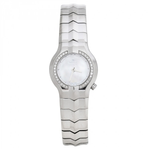 Tag Heuer Mother Of Pearl Stainless Steel Diamond Alter Ego WP1414.BA0754 Women's Wristwatch 25 mm