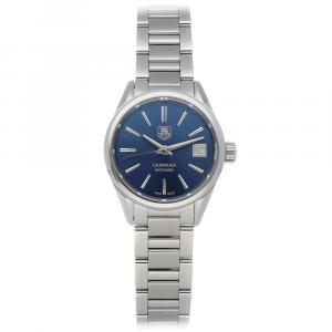 Tag Heuer Blue Stainless Steel Carrera WAR2419.BA0776 Women's Wristwatch 28 MM