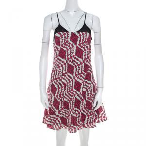 Thakoon Addition Fuchsia Pink Printed Cotton Cami Dress XS - used