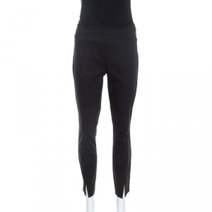 The Row Black Stretch Cotton Slit Detail Sorocco Pants M