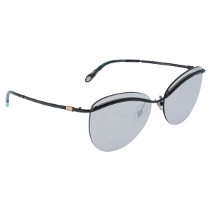 Tiffany & Co.Black/Silver Mirror TF 3057 Rimless Sunglasses