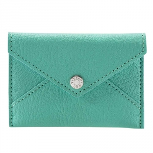 Tiffany & Co Turquoise Leather Mini Pouch