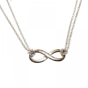 Tiffany & Co. Infinity Silver Pendant Necklace