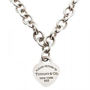 Tiffany & Co. Return to Tiffany Heart Tag Silver Necklace