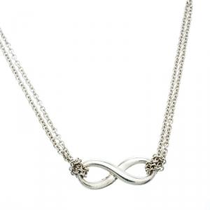 Tiffany & Co. Tiffany Infinity Silver Pendant Necklace