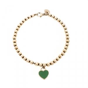 Tiffany & Co. Return to Tiffany Heart Tag Enamel Silver Beads Bracelet