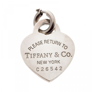 Tiffany & Co. Return To Tiffany Heart Tag Silver Charm Pendant