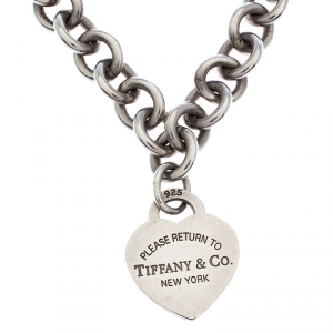 Tiffany & Co. Return to Tiffany Heart Tag Silver Chain Link Necklace