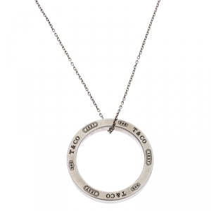 Tiffany & Co. Tiffany 1837 Silver Circle Pendant Necklace