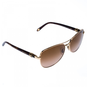 Tiffany & Co. Rose Gold/Brown Gradient TF3036-B Aviator Sunglasses