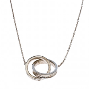 Tiffany & Co. 1837 Interlocking Circles Silver Pendant Necklace