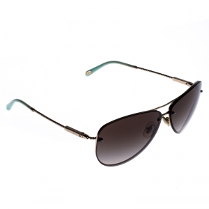 Tiffany & Co. Rose Gold Tone/ Green Gradient TF 3039-B Aviators Sunglasses