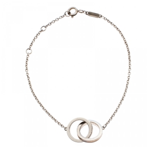 Tiffany & Co. 1837 Interlocking Circles Silver Bracelet