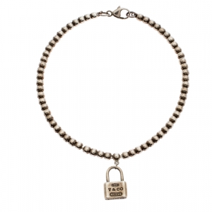 Tiffany & Co. Sterling Silver 1837 Mini Lock Bead Bracelet
