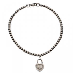 Tiffany & Co. Return To Tiffany Silver Heart Tag Bracelet