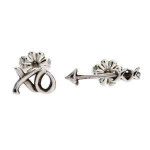 Tiffany & Co. Paloma's Graffiti Arrow & Love Kiss Asymmetric Stud Earrings