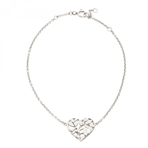 Tiffany & Co. Paloma Picasso Olive Leaf Heart Silver Bracelet