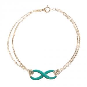 Tiffany & Co. Infinity Blue Enamel Silver Bracelet