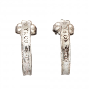 Tiffany & Co. Tiffany 1837 Silver Hoop Earrings