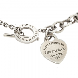 Tiffany & Co. Return to Tiffany Heart Tag Silver Toggle Necklace