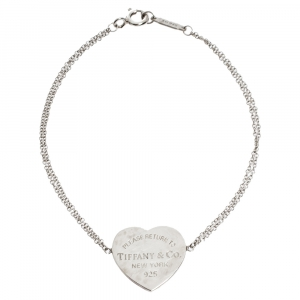 Tiffany & Co. Return To Tiffany Heart Tag Silver Chain Bracelet