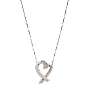 Tiffany & Co. Paloma Picasso Loving Heart Pendant Silver Necklace