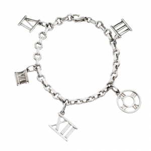 Tiffany & Co. Sterling Silver Atlas Charms Bracelet