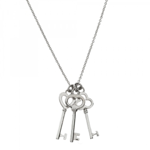 Tiffany & Co. Silver Mini Three-Key Pendant Necklace