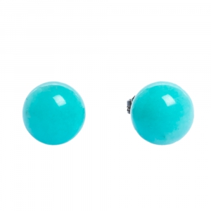 Tiffany & Co. Amazonite Silver Stud Earrings